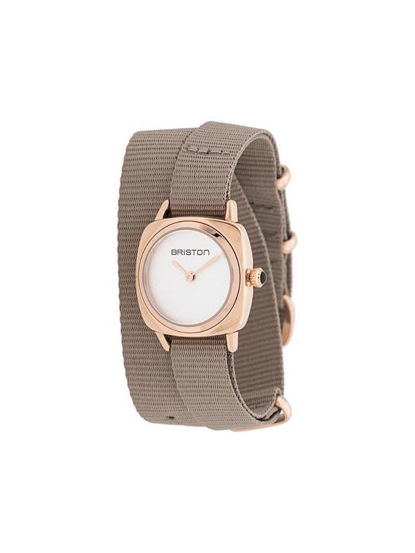 Briston Watches Clubmaster lady wrap watch in neutrals