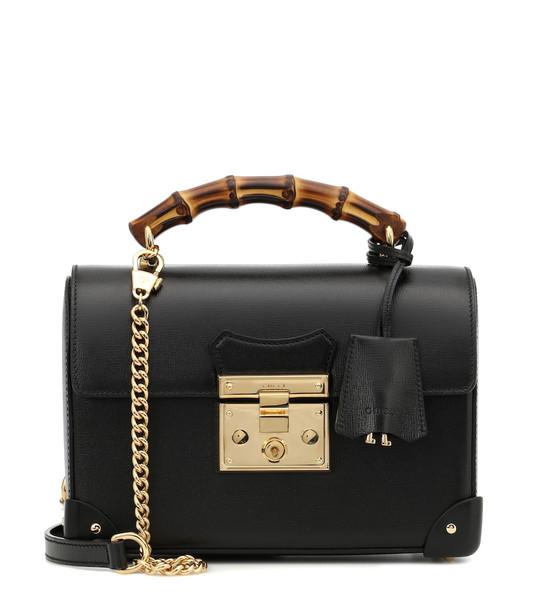 Gucci Padlock Small leather shoulder bag in black