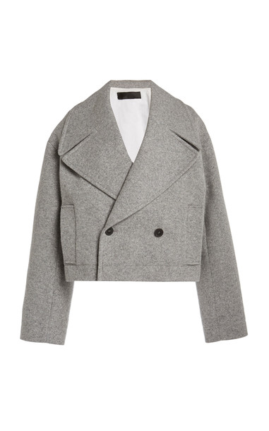 Haider Ackermann Short Caban Cropped Coat in white
