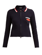 cardigan,zip,navy,cotton,knit,sweater