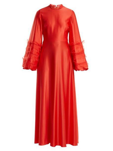 Roksanda - Kamau Silk Dress - Womens - Red