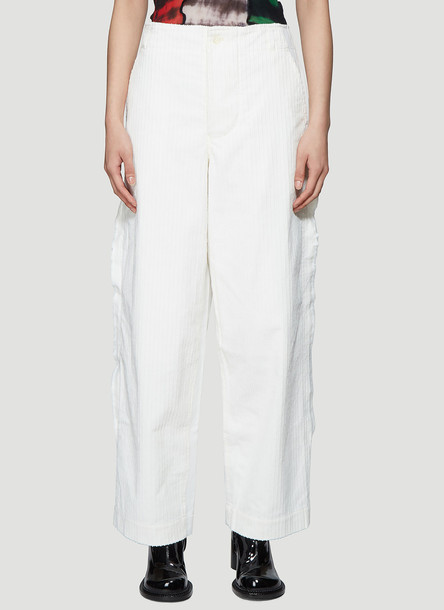 ASAI Contrast Cord Pants in White size UK - 06