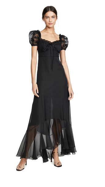 Raquel Diniz Alice Long Short Sleeve Dress in black