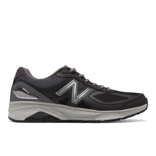 New Balance 1540v3 Made in US Men's Motion Control Shoes - Black/Grey (M1540BK3)