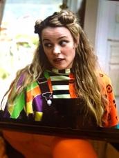 sweater,colorful,stripes,green,orange,purple,black,white,vintage,crazy,eurovision,rachel mc adams