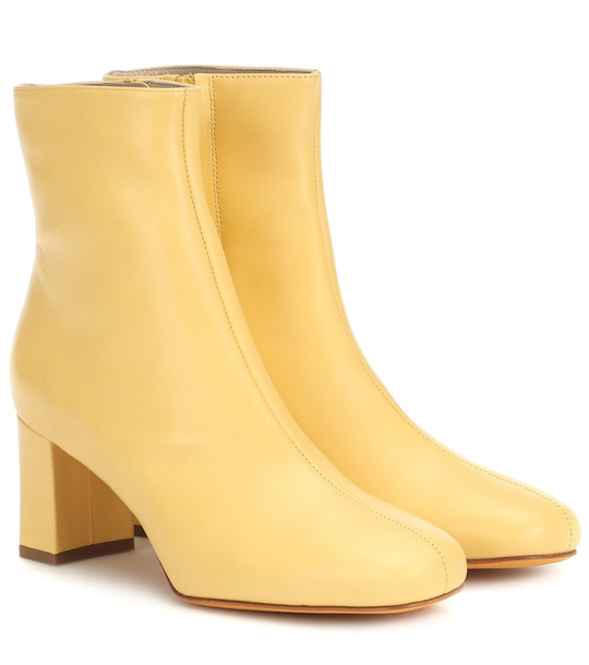 Maryam Nassir Zadeh Agnes leather ankle boots in yellow