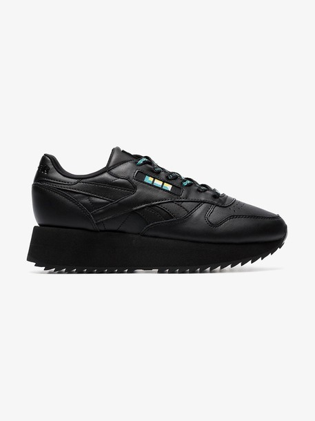 Reebok black Classic chunky leather low-top sneakers