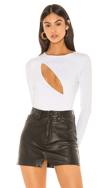 superdown Mona Cut Out Bodysuit in White
