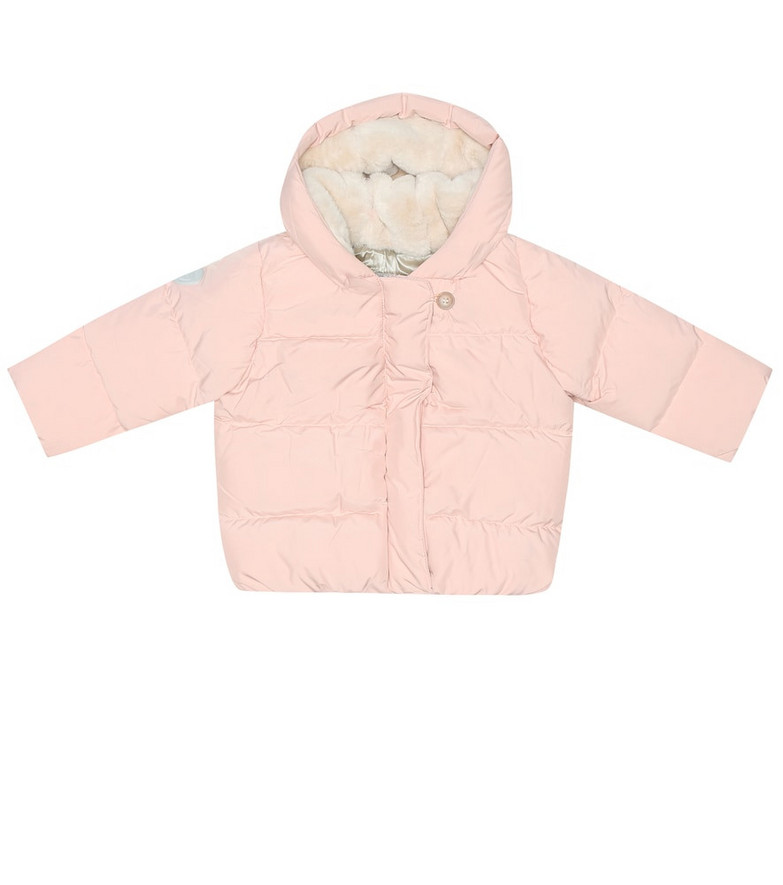 Bonpoint Baby down puffer jacket in pink