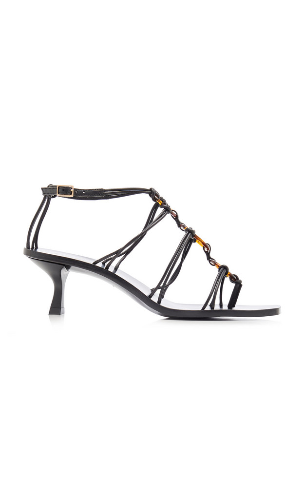 Cult Gaia Ziba Leather Sandals Size: 35 in black