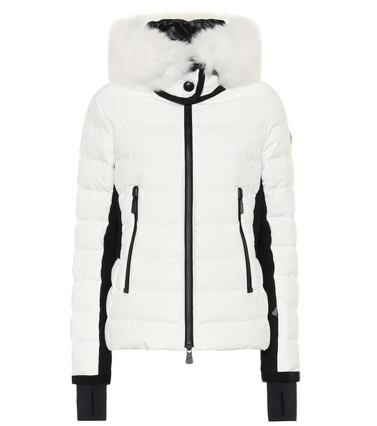 Moncler Grenoble Fur-trimmed down jacket in white