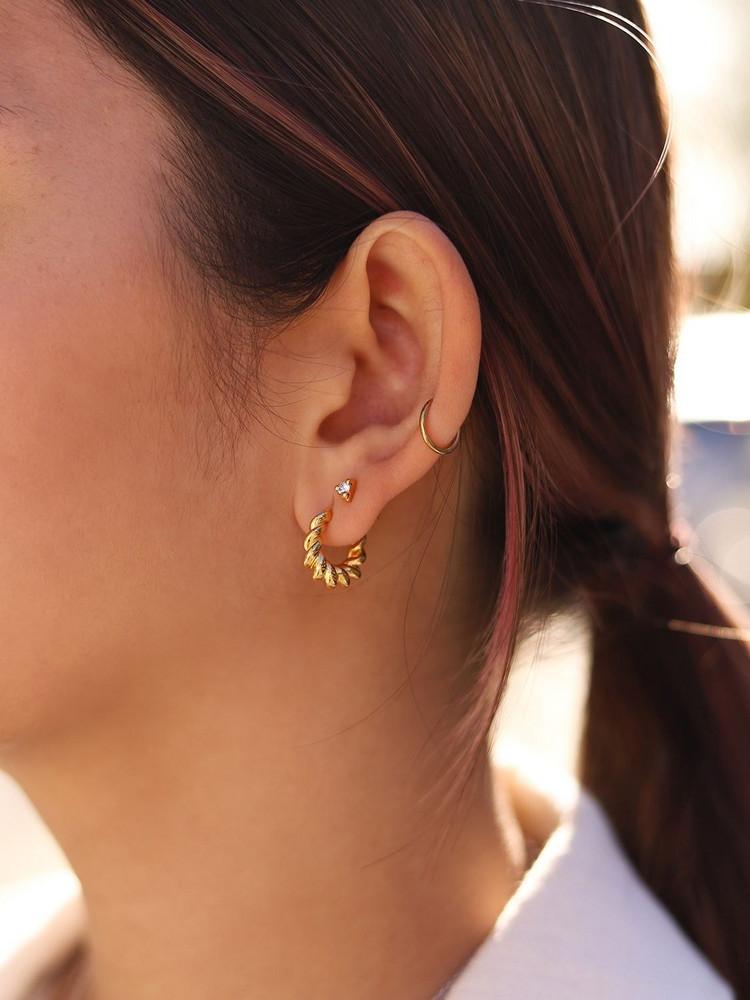 MISSOMA Mini Tidal Hoop Earrings in gold