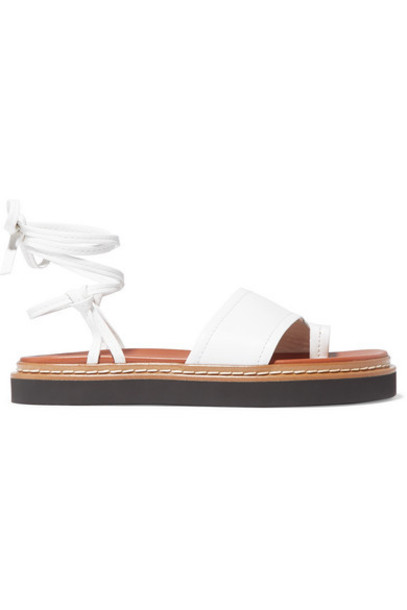 3.1 Phillip Lim - Yasmine Leather Sandals - Ivory