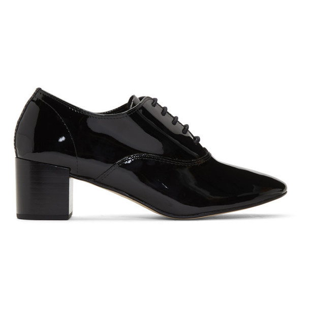Repetto Black Patent Fado Oxford Heels
