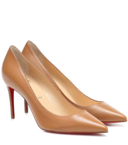 Christian Louboutin Kate 85 leather pumps in beige