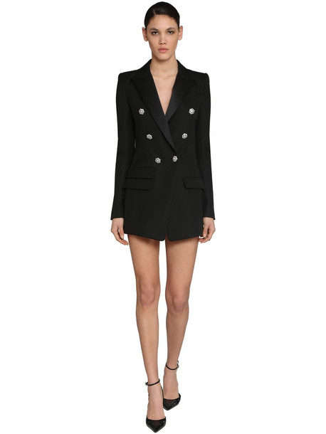 ALEXANDRE VAUTHIER Breast Grain De Poudre Blazer Dress in black