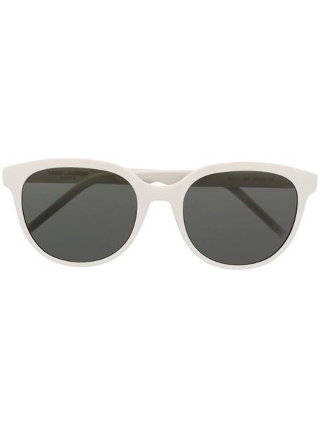 Saint Laurent Eyewear SL 317 round-frame sunglasses in white