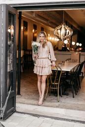 onesmallblonde,blogger,dress,shoes,jewels,bag