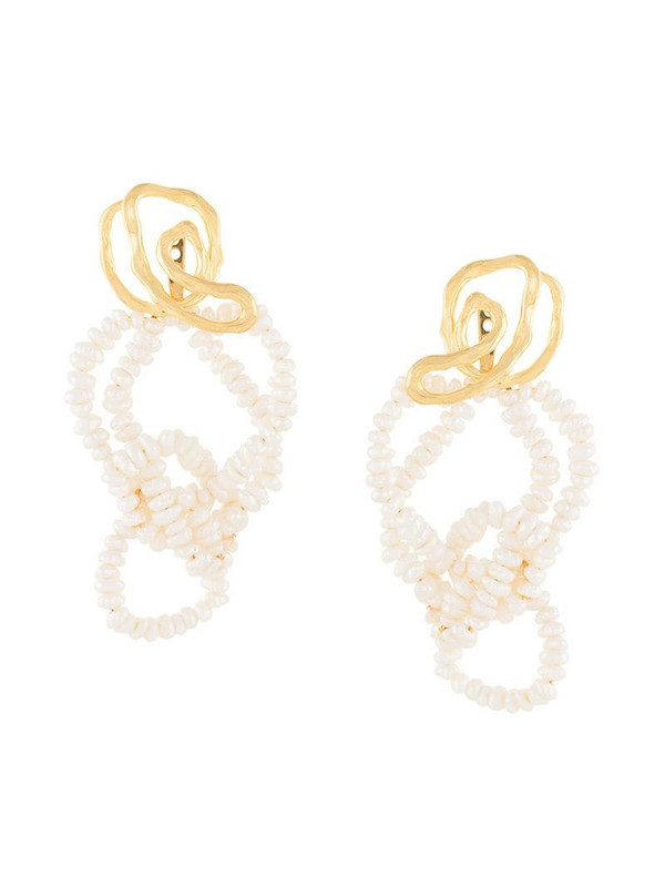 Joanna Laura Constantine pearl-embellished drop earrings in gold