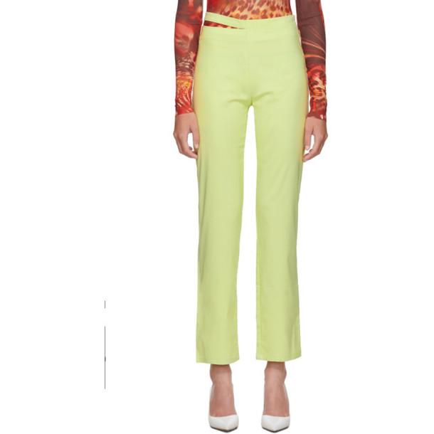 Miaou Yellow Maeve Trousers