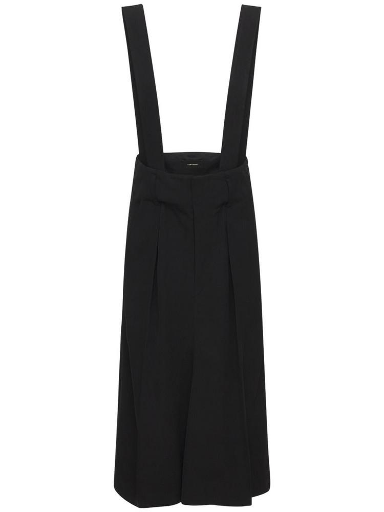 ISABEL MARANT Laraya Costard Viscose Midi Skirt in black