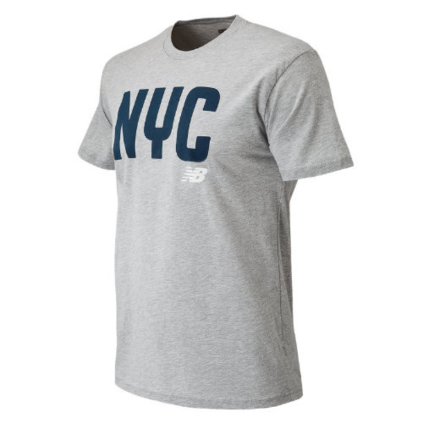 New Balance 63581 Men's NYC City Tee - Grey (MT63581AG)
