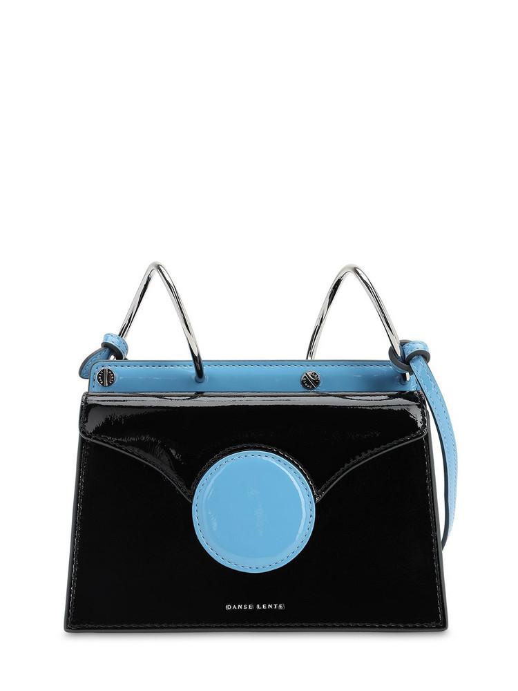 DANSE LENTE Mini Phoebe Leather Shoulder Bag in black