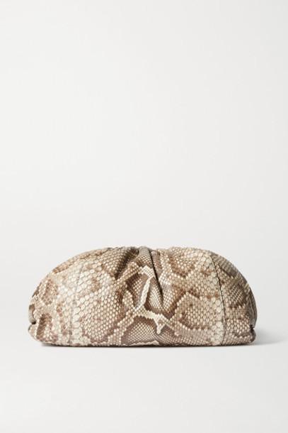 Bottega Veneta - The Pouch Large Python Clutch - Snake print