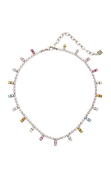 Dannijo Nepture Rainbow Brass and Crystal Necklace in multi