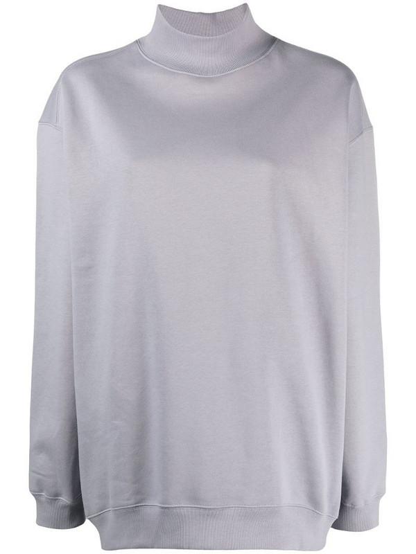 Filippa K Soft Sport funnel-neck cotton sweatshirt in purple