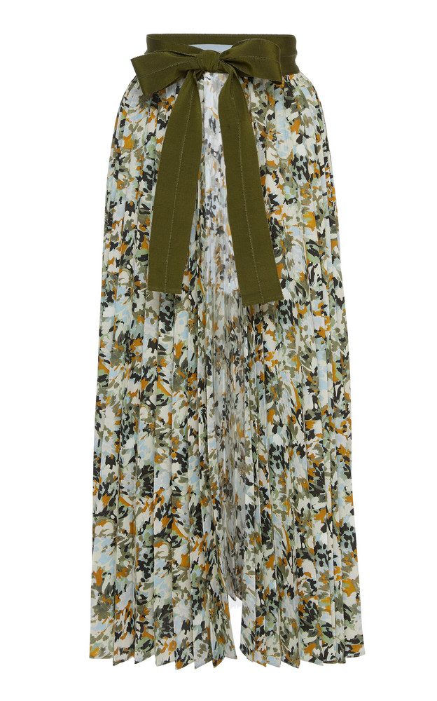 Silvia Tcherassi Patterned Blanche Chiffon Midi Skirt in multi