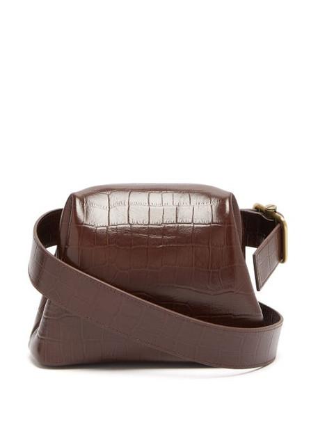 Osoi - Brot Mini Crocodile Effect Leather Cross Body Bag - Womens - Tan