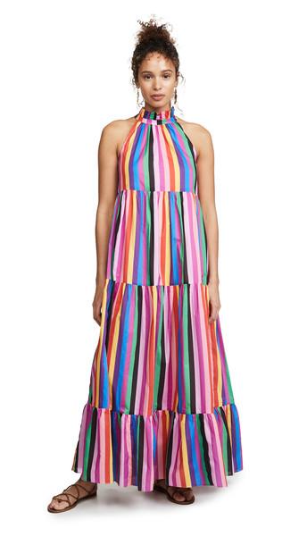 Borgo de Nor Pandora Halter Neck Dress in multi