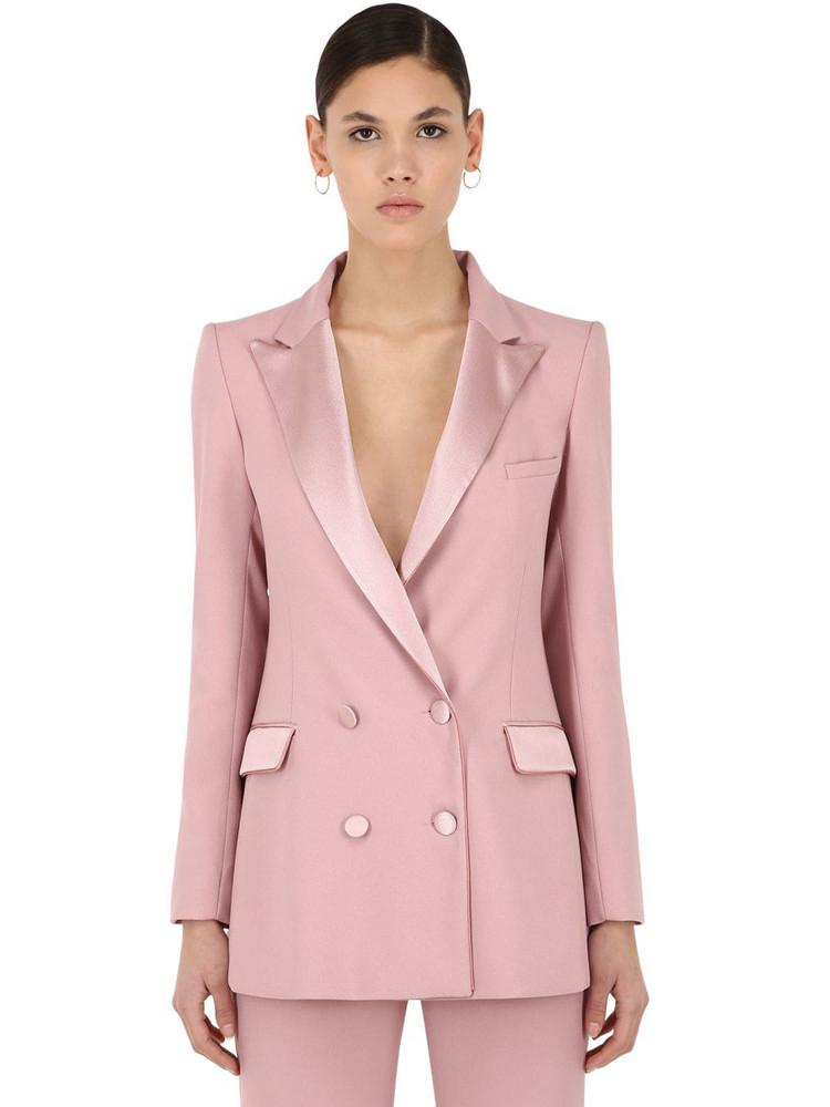 HEBE STUDIO Bianca Viscose Cady Blazer in pink