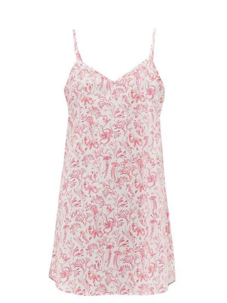 Derek Rose - Ledbury Aquatic Print Cotton Nightdress - Womens - Pink
