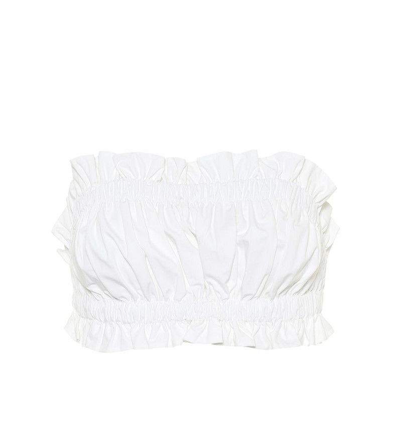 Lee Mathews Dwight cotton-poplin bustier in white