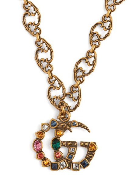 Gucci - Gg Crystal Embellished Pendant - Womens - Multi