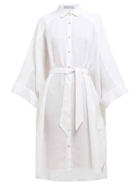 Palmer/harding Palmer//harding - Serra Wide Sleeve Linen Shirtdress - Womens - White