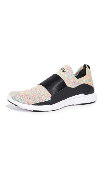 APL: Athletic Propulsion Labs TechLoom Bliss Sneakers in black / white / multi