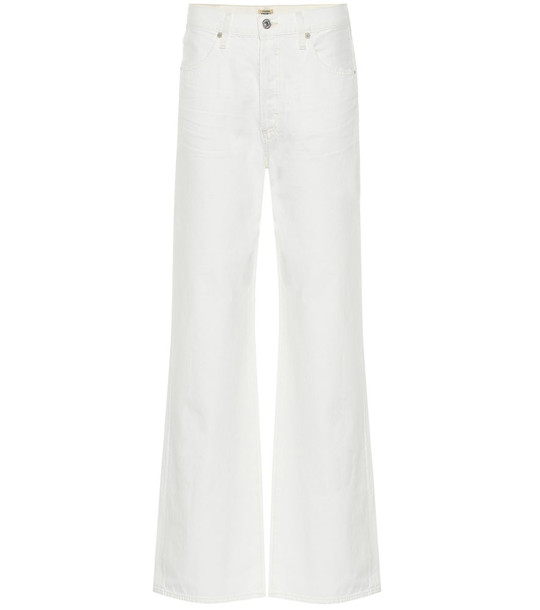 Citizens of Humanity Annina high-rise wide-leg jeans in white