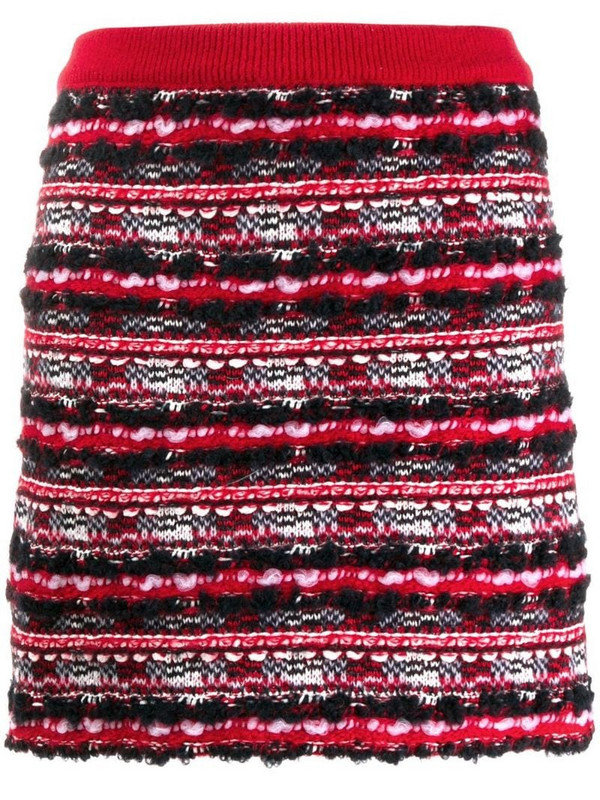 Thom Browne woven mini skirt in red
