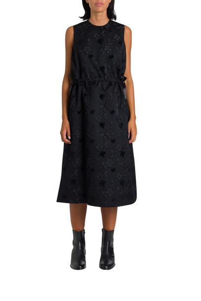 Noir Kei Ninomiya Jacquard Dress With Tulle Underskirt in nero
