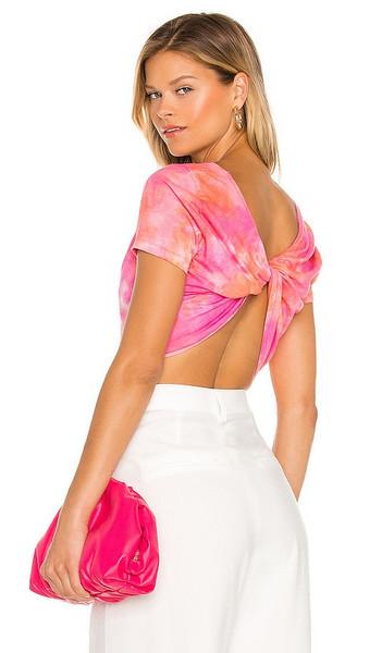 Lovers + Friends Lovers + Friends Lily Twist Top in Pink