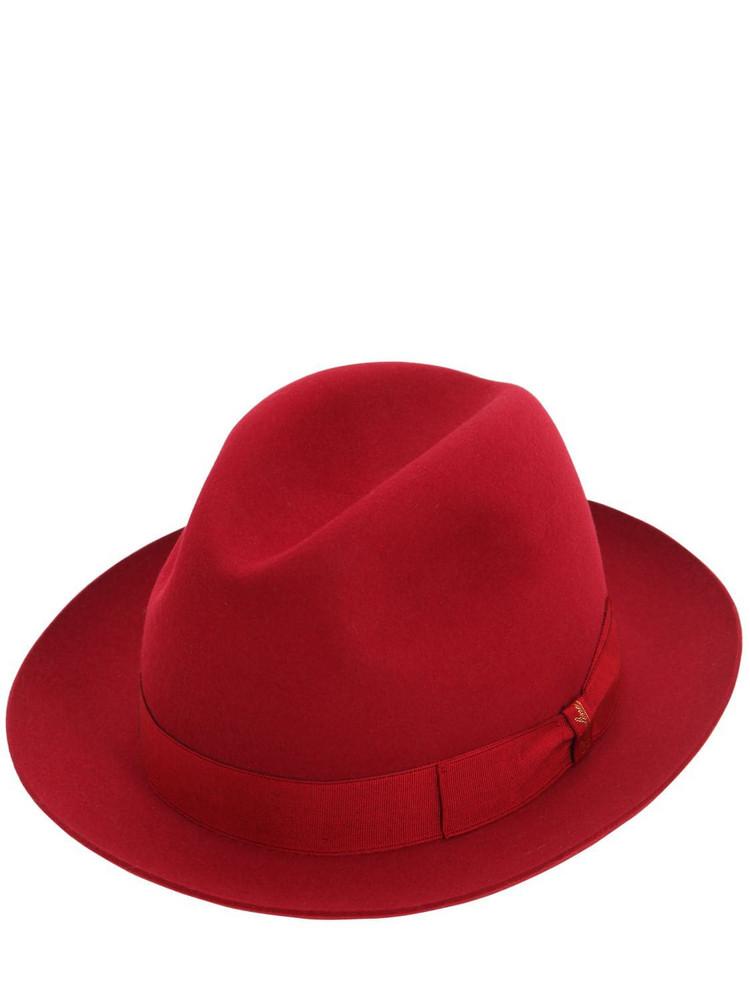 BORSALINO Felted Marengo Hat in red