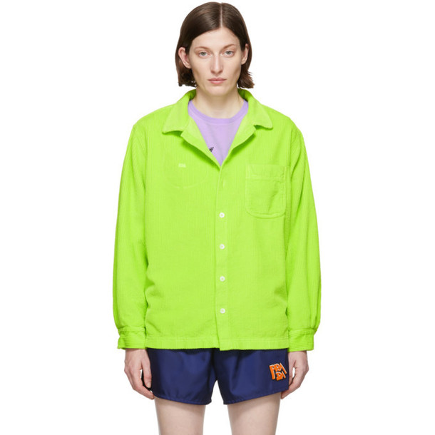 ERL Green Corduroy Button Down Jacket