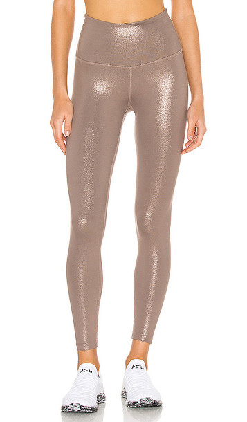 Beyond Yoga Twinkle Legging in Brown