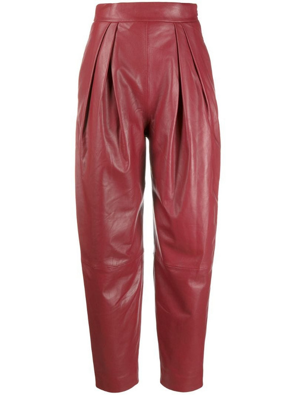 Alberta Ferretti high-waisted tapered trousers in red