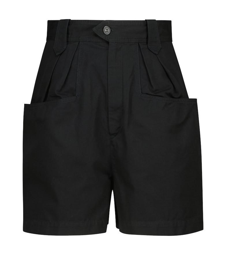 Isabel Marant, Étoile Palinoa cotton paperbag shorts in black