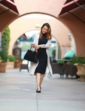 stylish petite,blogger,dress,sweater,jacket,coat,shoes,bag