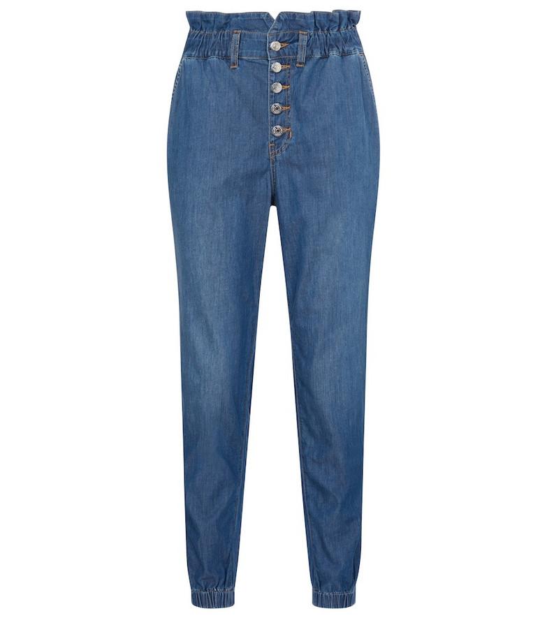 Veronica Beard Tedi high-rise straight jeans in blue
